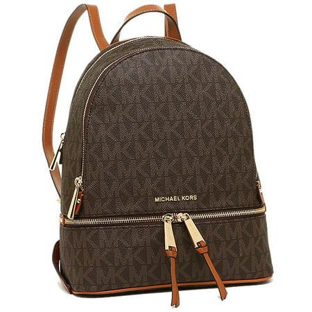 b88d20dc3b42 889154861671 - Michael Kors Small Rhea Backpack - Brown - 30H5GEZB1B-200 -  UPC Search