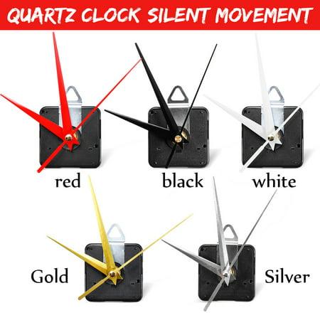 13mm Long Spindle Wall Clock Quartz Movement Mechanism DIY Repair Replacement Kit Silent Mode (Diy Clock)