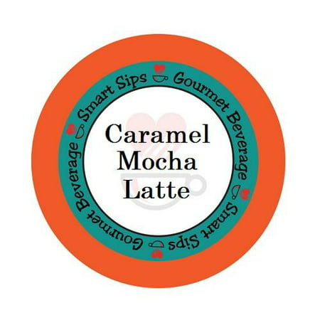 Smart Sips Coffee Caramel Mocha Latte Single Serve Cups, 24 Count, Compatible With All Keurig K-cup Machines