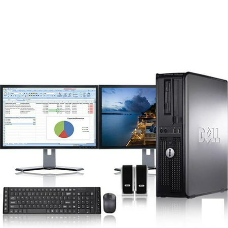 Dell Optiplex Desktop Computer 2.9 GHz Core 2 Duo Tower PC, 8GB RAM, 1 TB HDD, Windows 10, ATI , Dual 19