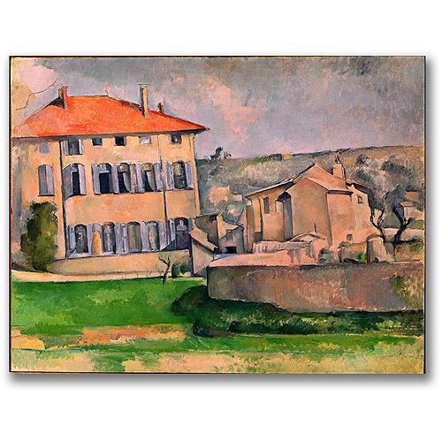 """Trademark Fine Art """"Jas de Bouffan"""" Canvas Wall Art by Paul Cezanne"""
