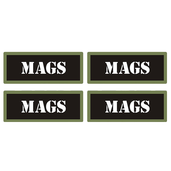 "Mags Ammo Can 4 Pack 3"" Black Sticker Gun Ammunition Box Case Decal"