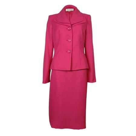 Evan Picone Women's Work Smart Skirt Suit (Slit Skirt)