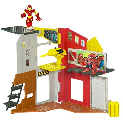 marvel super hero squad mini playset - superhero city spi...
