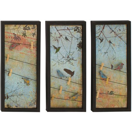 Alluring styled metal wall decorative 3 assorted for Walmart art decor