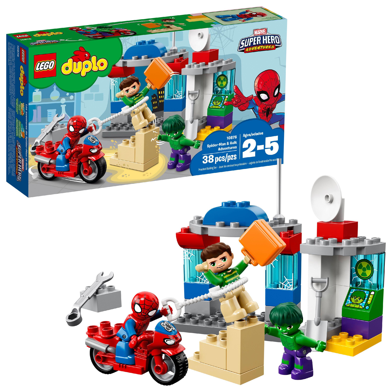 905190ef3e586 LEGO DUPLO Super Heroes Spider-Man & Hulk Adventures 10876 - Walmart.com