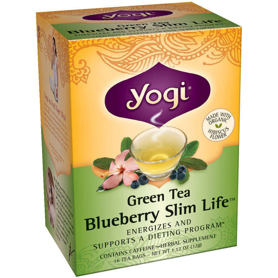 Yogi Blueberry Slim Life Green Tea Bags, 16 count
