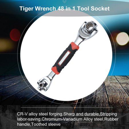 HC-TOP Tiger Wrench 48 in 1 Tool Socket 360 Degree Multipurpose Spline Bolts Wrench - image 5 de 6