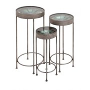 A Nation 92387 Metal Glass Planter Stand, Set of 3