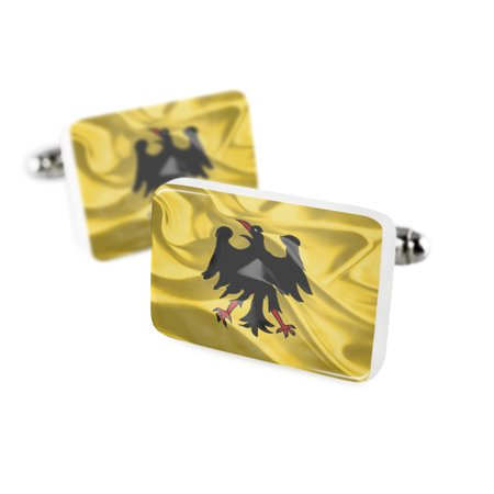 Cufflinks The Holy Roman Empire  Until 1401  3D Flagporcelain Ceramic Neonblond
