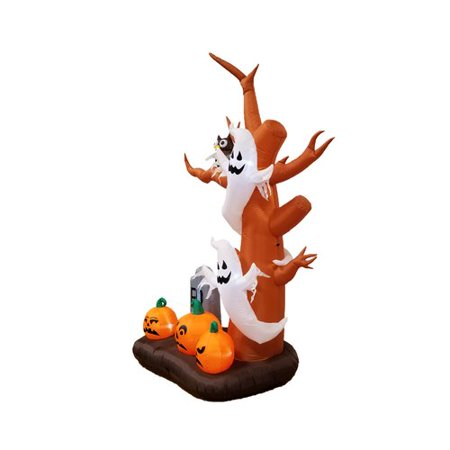 The Holiday Aisle Halloween Inflatable Tree, Ghost, Pumpkin and - Halloween Inflatable Haunted Tree