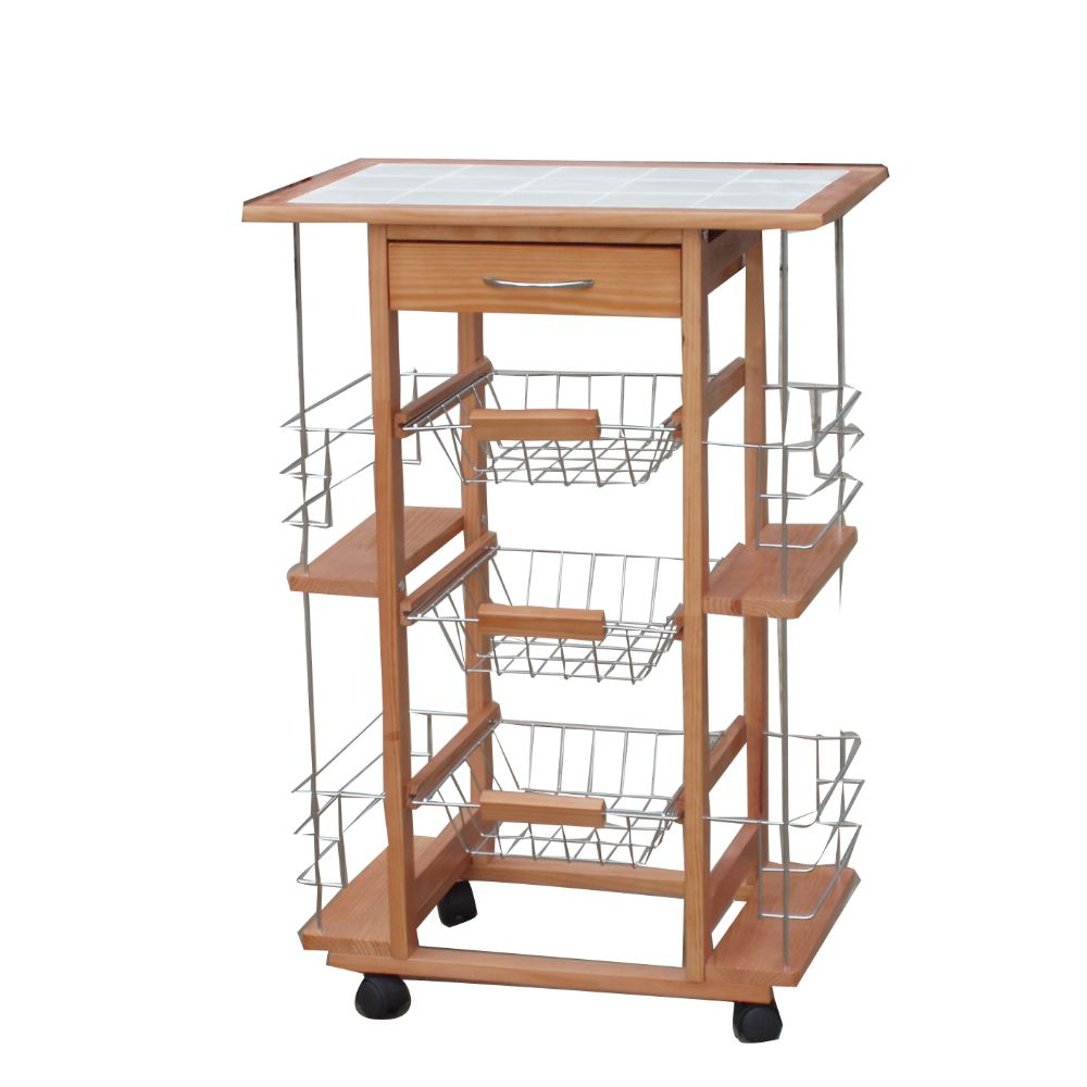 Contemporary Ceramic Kitchen Cart Trolley by Urban Port by The Urban Port