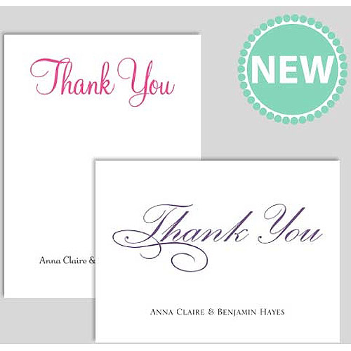 Personalized Thank You Cards Walmart Com