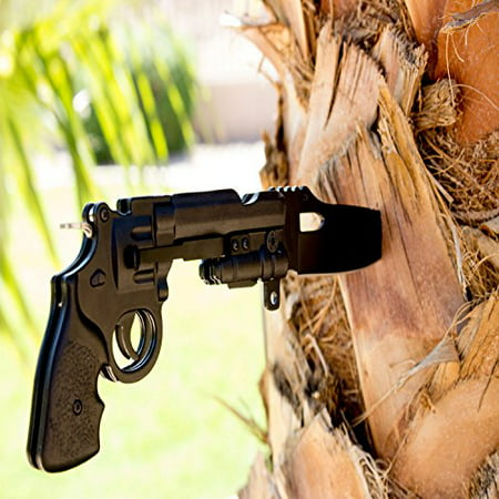 Best Black Pistol Knife for Gun Lovers Folding Model by Under Control Tactical - Cool Gift For Your Husband, Wife, or