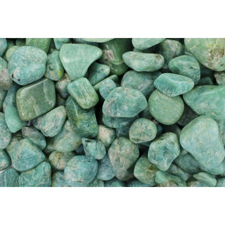 "Fantasia Crystal Vault: 3 lb High Grade Amazonite Tumbled Stones - Medium - 1"" to 1.5"" Average - Raw Natural High Quality Crystals & Rocks"