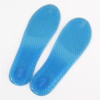 Men Women Increased Gel Massaging Shoe Insoles Arch Support Cushion Running Pads
