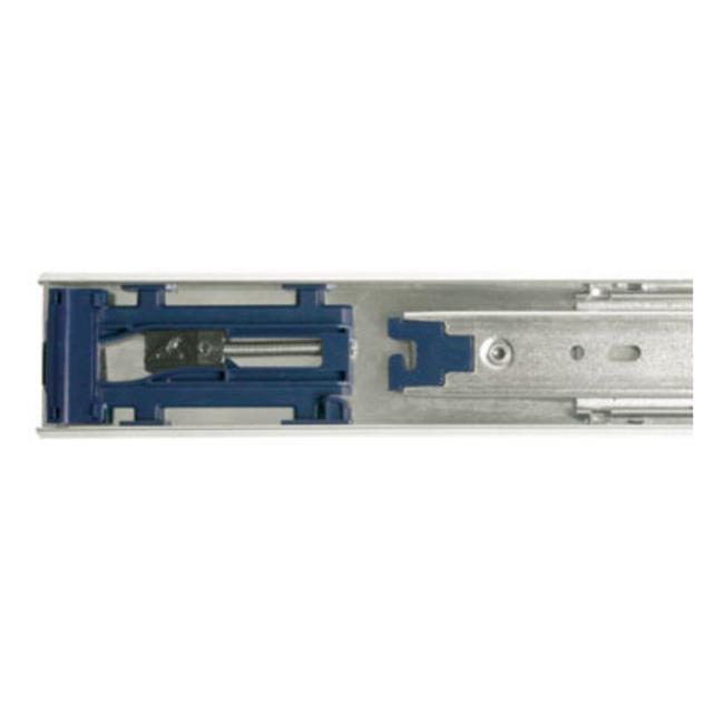 Knape & Vogt Kv8430 B16 16 inch Full Extension Push To Open Ball Bearing Drawer Slides - Anochrome