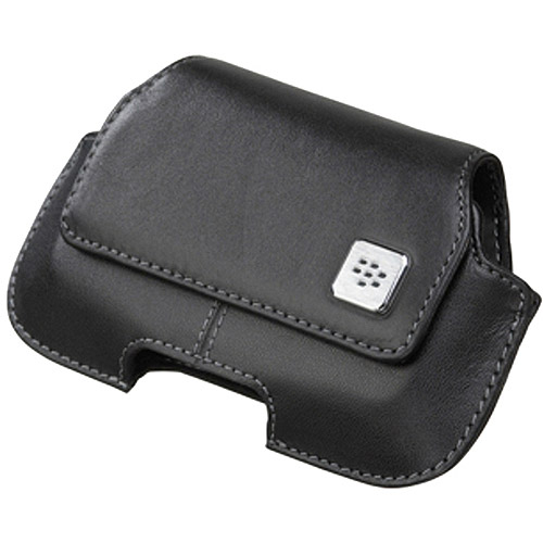 BlackBerry Horizontal Leather Holster with Clip for BlackBerry Curve 8900 -Black
