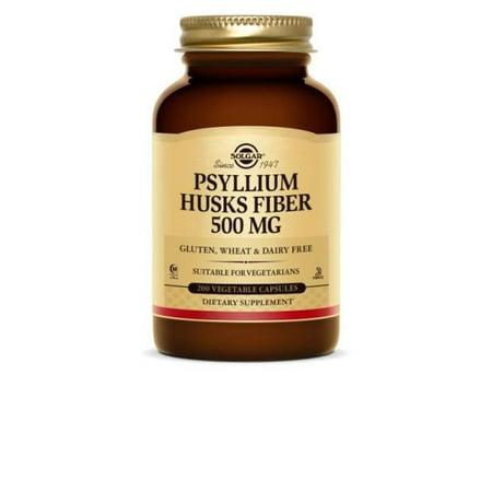 Solgar Psyllium Husks Fiber 500 Mg Vegetable Capsules 200 Ct