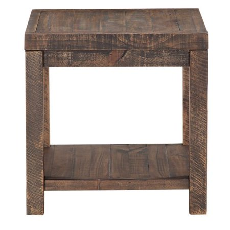 Reclaimed Heart Pine - Millwood Pines Stamant Reclaimed Wood End Table