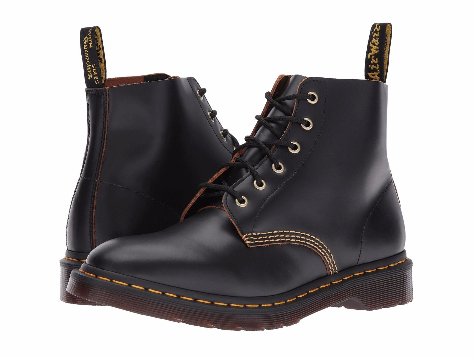 Dr. Martens 101 Archive Men's Shoes 6 Eyelet Boot 22701001 Black by Dr. Martens