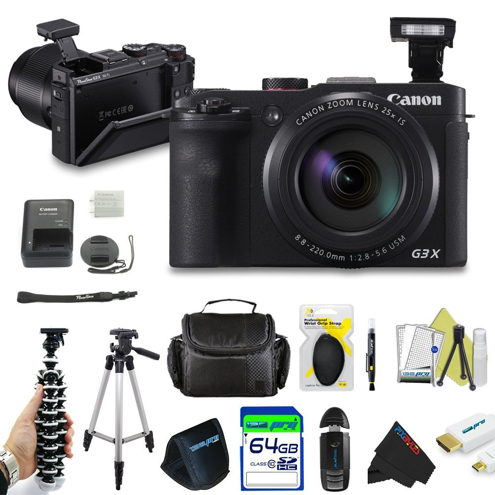 Canon PowerShot G3 X Digital Camera + Pixi-Advanced Accessory Bundle