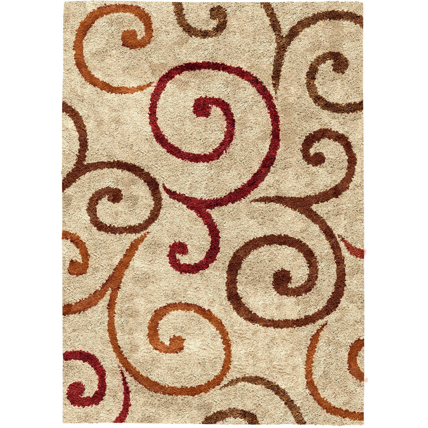 Better Homes and Gardens Swirls Area Rug Available In Multiple Colors And Sizes