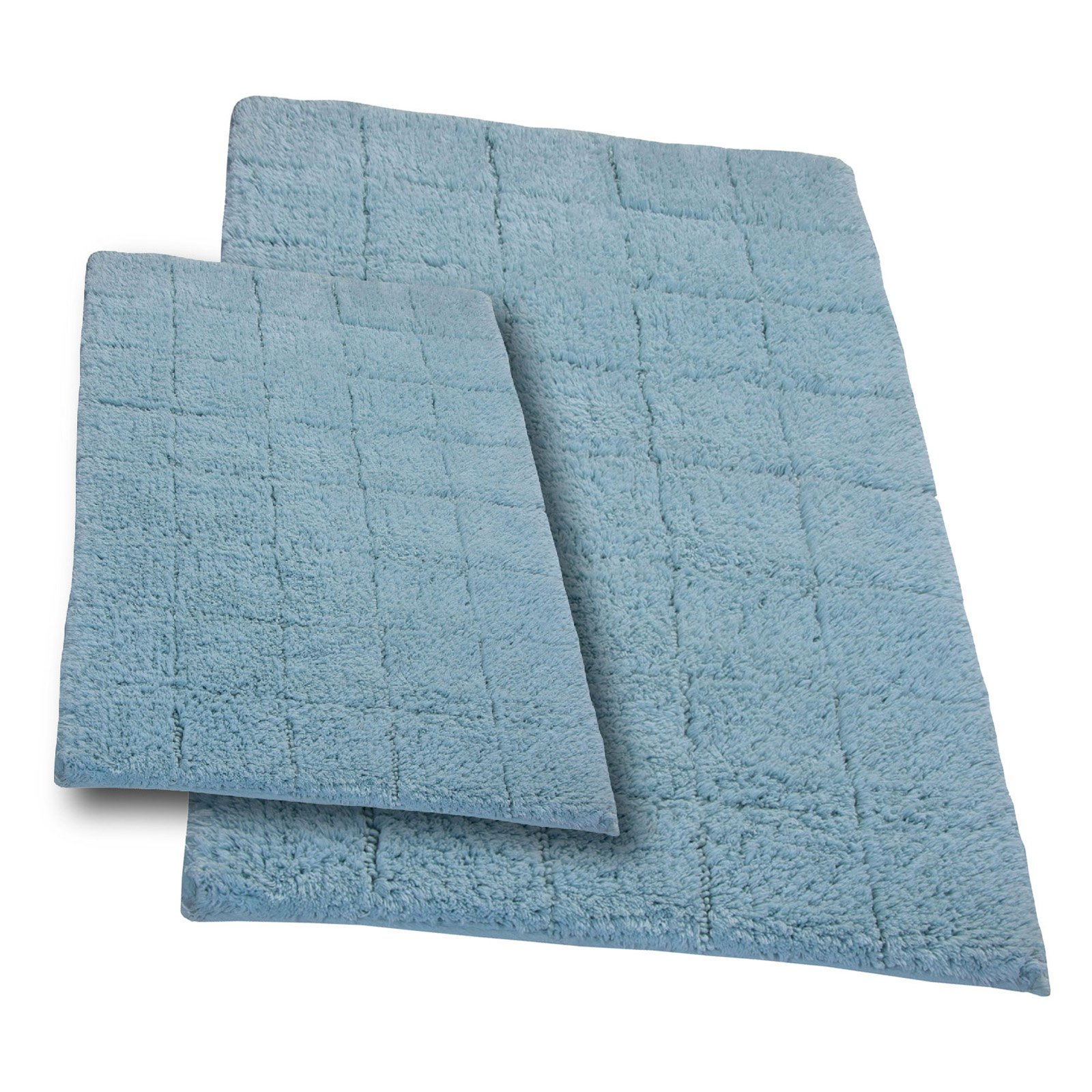 Elegance Collection Summer Tile Bath Rug - Set of 2
