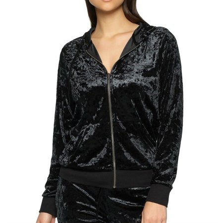 Designer Hoody (Felina Women's Flora Crushed Velvet Hoodie - 900250 )