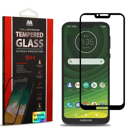 Transparent Screen Protector Film (Motorola Moto G7 POWER Screen Protector FULL COVERAGE Tempered Glass Film LCD Transparent 3D Touch, Anti Fingerprint, Case Friendly for Motorola MOTO G7)