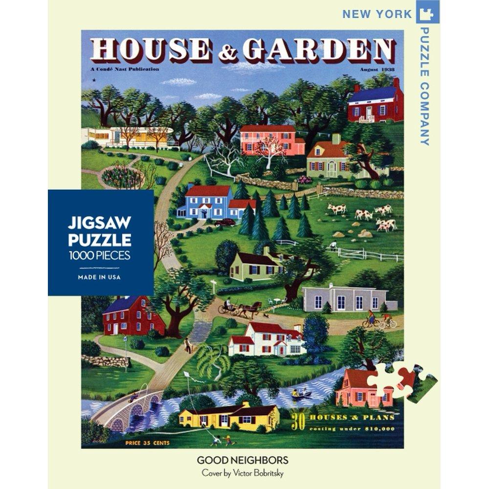 New York Puzzle Company Good Neighbors Jigsaw Puzzle ...
