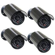 VideoSecu 4 Fake Surveillance Camera Dummy Infrared IR LED Light Home Security Camera with Blinking Flashing Light c4x