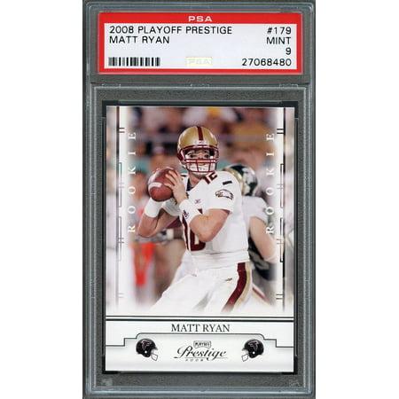 2008 playoff prestige #179 MATT RYAN atlanta falcons rookie card PSA 9
