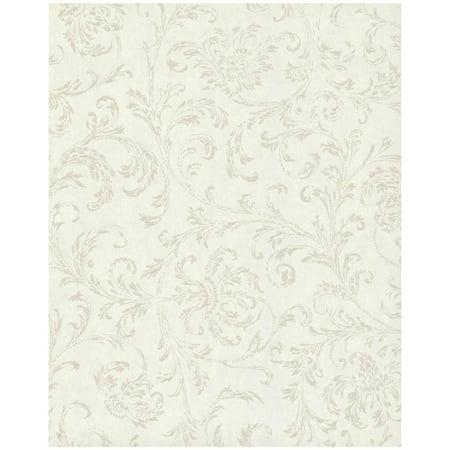 Delicate Scroll Wallpaper - White ()