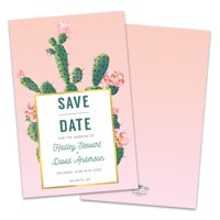 Personalized Cactus Fiesta Save The Date Announcement