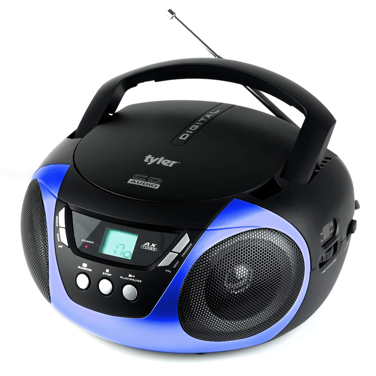 JENSEN CD-490 Portable Stereo CD Player with AM//FM Radio and Aux Line-In