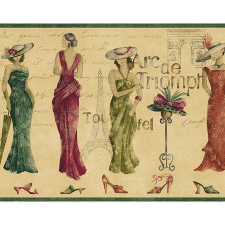 879585 Fashion Wallpaper Border Traditional FFM10071b](Old Fashioned Halloween Wallpaper)