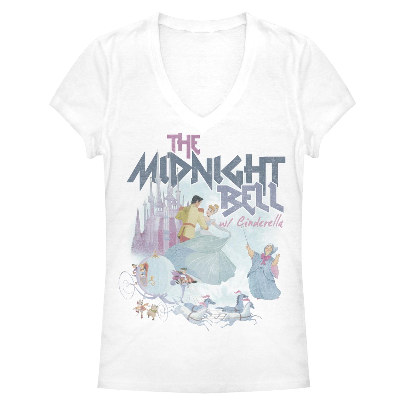 cinderella juniors' midnight bell v-neck t-shirt