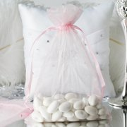 """Efavormart 50PCS  Organza Gift Bag Drawstring Pouch for Wedding Party Favor Jewelry Candy Sheer Organza Bags - 6""""x9"""""""
