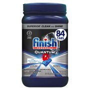 Finish Quantum, 84ct, with Activblu technology, Dishwasher Detergent Tabs, Ultimate Clean and Shine