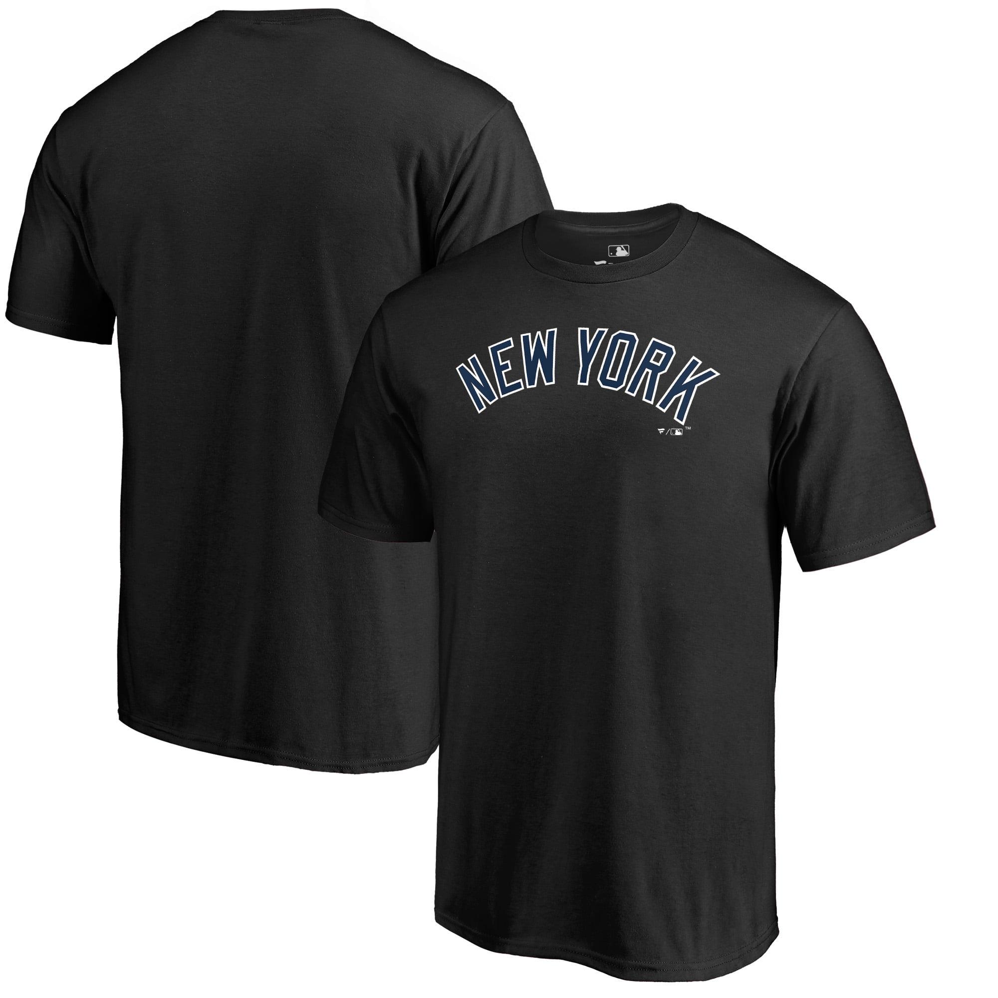 New York Yankees Fanatics Branded Team Wordmark T-Shirt - Black