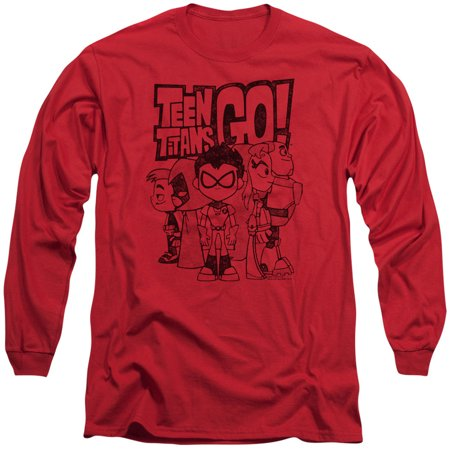 fd141a9c9c54 Teen Titans - Teen Titans Go Team Up Mens Long Sleeve Shirt - Walmart.com