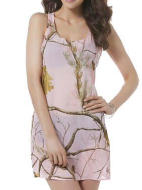 bc02e37b6c Product Image Realtree Womens Pink Semi-Sheer Camo Swim Suit Cover Up  Camouflage Dress