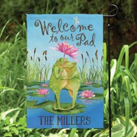 Personalized Welcome To Our Pad Garden Flag