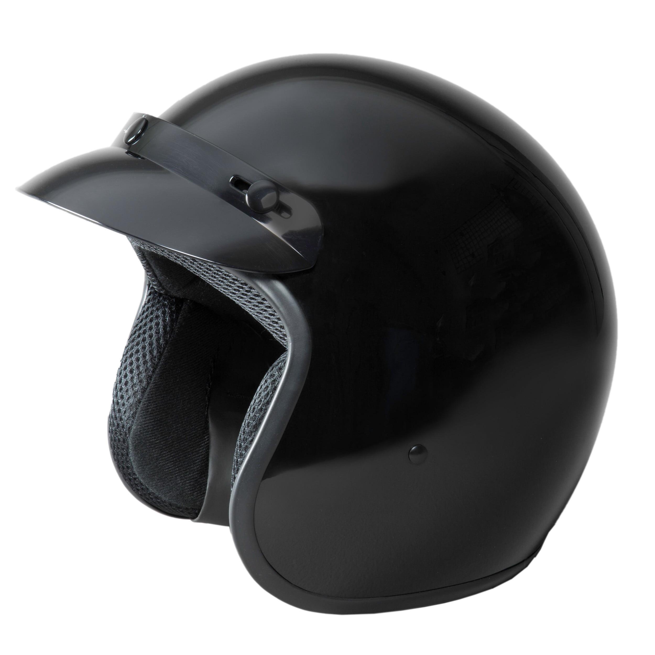 Fuel Helmets Sh-Of0015 O5 Series Open Face Helmet Gloss Black Medium
