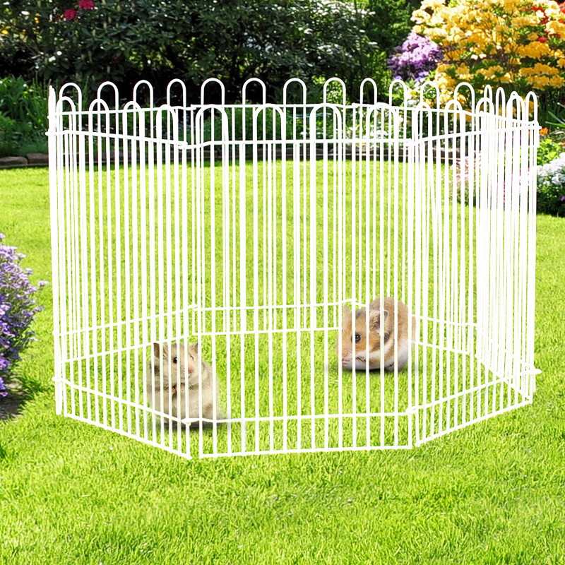 OUTERDO Mini Pet Animals Containment Exercise Playpen Hed...