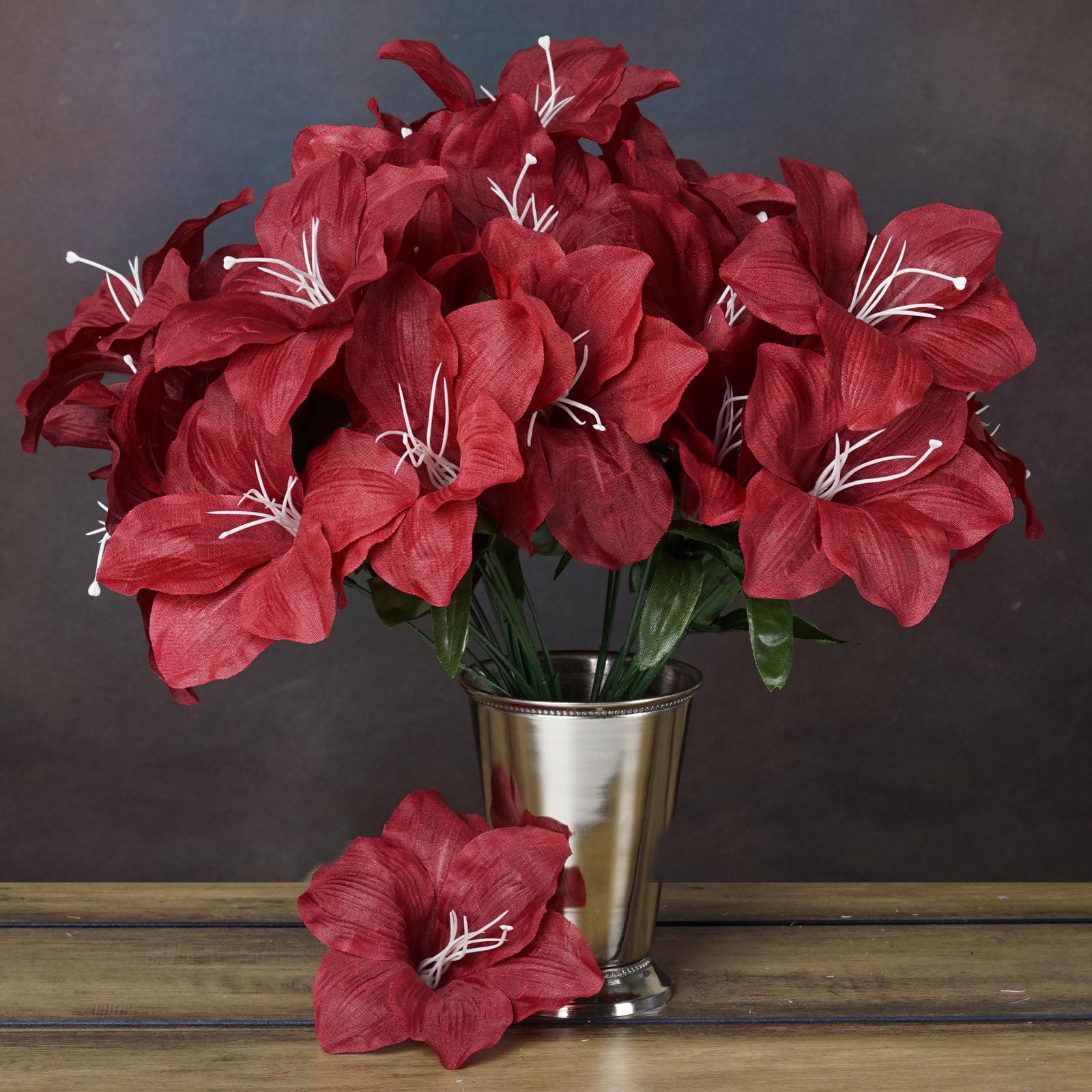 Efavormart 60 Easter Artificial Lilies for DIY Wedding Bouquets Centerpieces Arrangements Party Home Decorations Wholesale Supplies