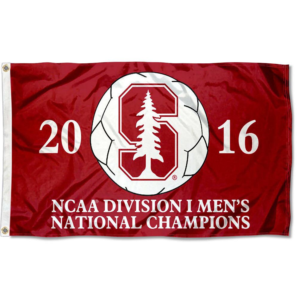 Stanford University Cardinal Mens 2016 Soccer Champions Flag