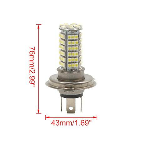 H4 Blanc 102 LED cms 1210-Phare antiBrume Lampe Phare 12V Voiture - image 1 de 3
