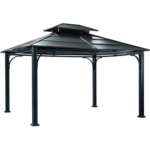 Sunjoy Boca Polycarbonate Top Gazebo, Dark Coffee